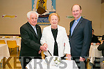 St Brendan's Church special Mass to celebrate significant anniversaries of marriage 20th, 25th, 30th and Gold and Diamond on Saturday pictured Mazie and Denis Brennan who are celebrating their 55th Wedding Anniversary cut the cake with Fr. Padraig Walsh