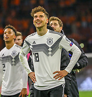 Siegesjubel Leon Goretzka (Deutschland, Germany) - 24.03.2019: Niederlande vs. Deutschland, EM-Qualifikation, Amsterdam Arena, DISCLAIMER: DFB regulations prohibit any use of photographs as image sequences and/or quasi-video.