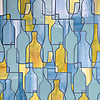 Bottles, a glass waterjet shown in Peridot, Serpentine and Mica, is part of the Erin Adams Collection for New Ravenna.