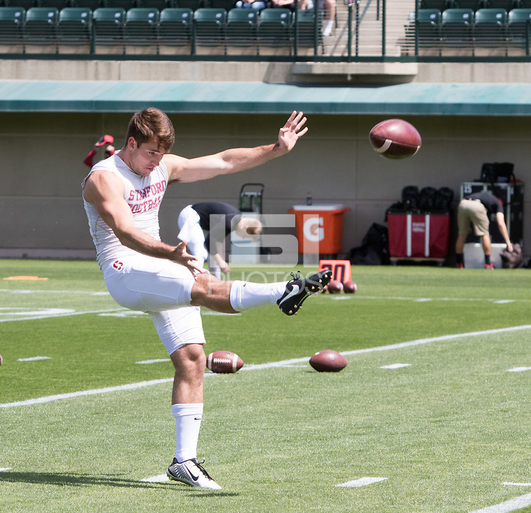 Stanford, CA - April15, 2017:  Charlie Beall at Cagan Stadium.