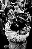 Warsaw 04/2010 Poland<br /> People mourning the tragic death of President Lech Kaczynski and his wife in front of the presidential residence.<br /> Photo: Adam Lach / Napo Images for The New York Times<br /> <br /> Zaloba po tragicznej smierci Prezydenta Lecha Kaczynskiego i jego malzonki,ul. Krakowskie Przedmiescie przed Palacem Prezydenckim.<br /> Fot: Adam Lach / Napo Images dla The New York Times