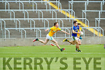 Tomás Ó Sé Kerry in action against Michael Flood Meath in the All Ireland Junior Football Final at O'Moore Park, Portlaoise on Saturday.