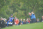 Ryder Cup 206 K Club, Straffan, Ireland..European Ryder Cup team player Darren Clarke plays his 2nd shot on the 4th hole during  the  morning fourballs session of the second day of the 2006 Ryder Cup at the K Club in Straffan, Co Kildare, in the Republic of Ireland, 23 September 2006...Photo: Eoin Clarke/ Newsfile.
