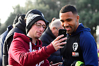 Callum Wilson of AFC Bournemouth poses for a selfie with a fan during AFC Bournemouth vs Arsenal, Premier League Football at the Vitality Stadium on 25th November 2018