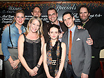 Cassie Beck, Tasha Lawrence, Davis McCallum, Samuel D. Hunter, Reyna de Courcy, Cory Michael Smith and Shuler Hensley attending the Opening Night Performance After Party for 'The Whale' at West Bank Cafe in New York City on 11/05/2012