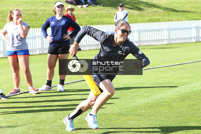 NELSON, NEW ZEALAND - NOVEMBER 18: White Ferns hold all Girls coaching Saxton Cricket  on November 18 2016 in Nelson, New Zealand. (Photo by: Evan Barnes Shuttersport Limited)
