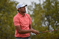 Tony Finau (USA) watches his tee shot on 10 during day 3 of the Valero Texas Open, at the TPC San Antonio Oaks Course, San Antonio, Texas, USA. 4/6/2019.<br /> Picture: Golffile | Ken Murray<br /> <br /> <br /> All photo usage must carry mandatory copyright credit (&copy; Golffile | Ken Murray)