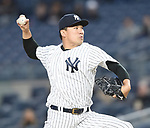 Masahiro Tanaka (Yankees),<br /> APRIL 19, 2017 - MLB :<br /> New York Yankees starting pitcher Masahiro Tanaka pitches during the Major League Baseball game against the Chicago White Sox at Yankee Stadium in the Bronx, New York, United States. (Photo by AFLO)