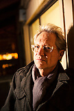USA, Colorado, Aspen, portrait of Gerry Beckley of the band America at Belly Up in downtown Aspen