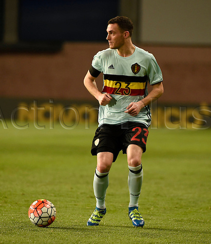 29.03.2016. Leiria, Portugal.  Vermaelen Thomas defender of Belgium during the FIFA international friendly match between Portugal and Belgium as part of the preparation of the Belgian national soccer team prior to the UEFA EURO 2016  in Leiria, Portugal.