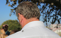 Pictured: Andy Miles of the Daily Mirror with one of his followers at the search at the new site in Kos, Greece. Friday 07 October 2016<br /> Re: Police teams led by South Yorkshire Police, searching for missing toddler Ben Needham on the Greek island of Kos have moved to a new area in the field they are searching.<br /> Ben, from Sheffield, was 21 months old when he disappeared on 24 July 1991 during a family holiday.<br /> Digging has begun at a new site after a fresh line of inquiry suggested he could have been crushed by a digger.