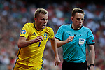 Sweden national team player Sebastian Larsson during UEFA EURO 2020 Qualifier match between Spain and Sweden at Santiago Bernabeu Stadium in Madrid, Spain. June 10, 2019. (ALTERPHOTOS/A. Perez Meca)