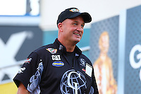 Sep 13, 2013; Charlotte, NC, USA; NHRA top fuel dragster driver Bob Vandergriff Jr during qualifying for the Carolina Nationals at zMax Dragway. Mandatory Credit: Mark J. Rebilas-