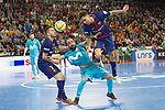 League LNFS 2017/2018.<br /> PlayOff Final-Game 4.<br /> FC Barcelona Lassa vs Movistar Inter FS: 3-3.<br /> FCB por penaltys.<br /> Dyego, Ricardinho &amp; Aicardo.