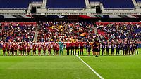 HARRISON, NJ - SEPTEMBER 29: Orlando Pride, Sky Blue FC during a game between Orlando Pride and Sky Blue FC at Red Bull Arena on September 29, 2019 in Harrison, New Jersey.