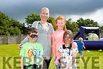l-r David Finn, Lisa Finn, Nicole Coffey and Ava Finn enjoying the NA GAEIL GAA, family fun day on Sunday