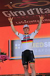 Andre Greipel (GER) Lotto-Soudal wins Stage 2 of the 100th edition of the Giro d'Italia 2017, running 221km from Olbia to Tortoli, Sardinia, Italy. 6th May 2017.<br /> Picture: Eoin Clarke | Cyclefile<br /> <br /> All photos usage must carry mandatory copyright credit (&copy; Cyclefile | Eoin Clarke)