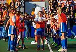 UTRECHT - Fan of the match met de wedstrijdbal      tijdens de Pro League hockeywedstrijd wedstrijd , Nederland-China (6-0) . COPYRIGHT  KOEN SUYK