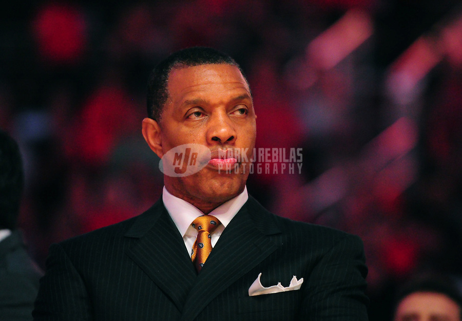 Mar. 25, 2011; Phoenix, AZ, USA; Phoenix Suns head coach Alvin Gentry prior to the game against the New Orleans Hornets at the US Airways Center. Mandatory Credit: Mark J. Rebilas-