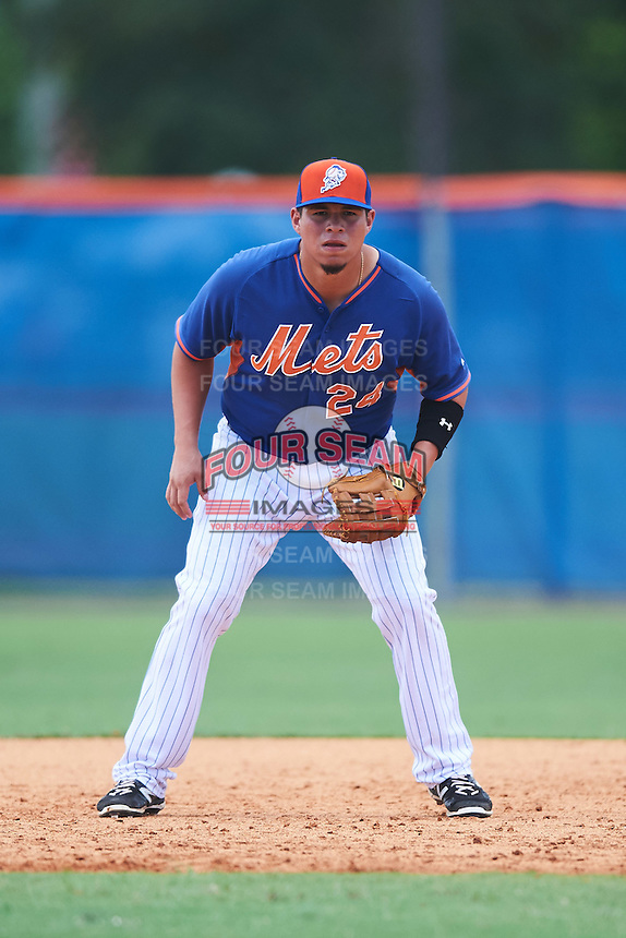 New York Mets  during an Instructional League game against the Miami Marlins on September 29, 2016 at the Port St. Lucie Training Complex in Port St. Lucie, Florida.  (Mike Janes/Four Seam Images)