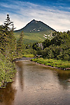 Doubletop Mountain from Nesowadnehunk Stream in Baxter State Park, Northern Maine.