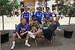 St Johnstone v Eskisehirspor....18.07.12  Uefa Cup Qualifyer.Saints fans pose with Eskisehir's 'Fair Maids'.Picture by Graeme Hart..Copyright Perthshire Picture Agency.Tel: 01738 623350  Mobile: 07990 594431