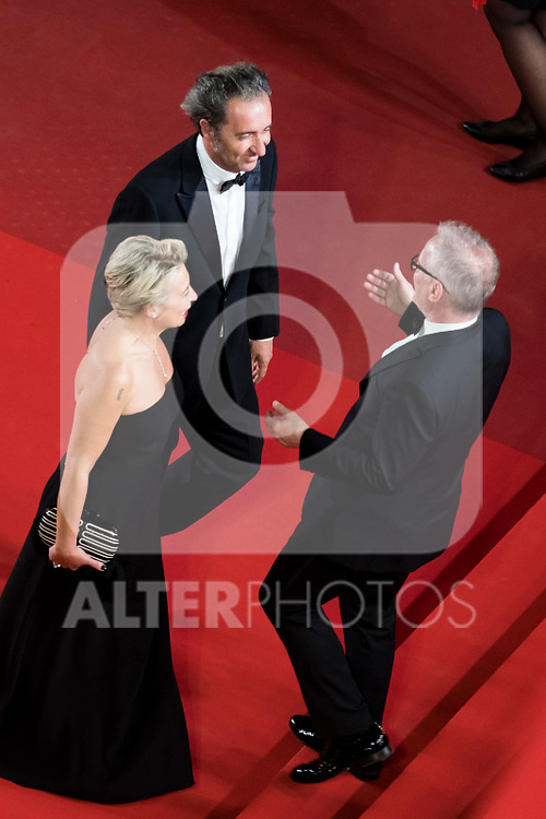 """218064 Scanella/Starface 2017-05-27 <br /> Cannes France<br />  70eme Festival International du Film de Cannes. Montee des Marches du film """"In the Fade"""". 70th International Cannes Film Festival. Red Carpet of """"In the Fade"""" movie<br /> <br /> <br /> <br /> <br />  Sorrentino, Paolo; Frémaux, Thierry"""
