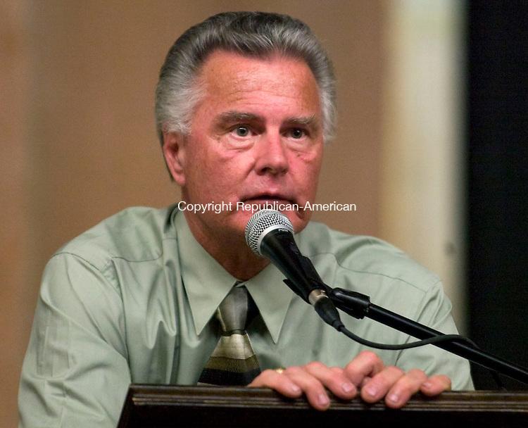 NAUGATUCK, CT - 27 APRIL 2009 -042709JT19-<br /> Candidate for Burgess Henry Kuczenski, D.<br /> Josalee Thrift Republican-American