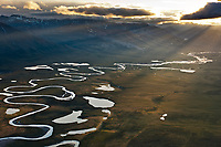 Aerial of the wild and scenic Wind River, Brooks Range, Arctic National Wildlife Refuge, Alaska.