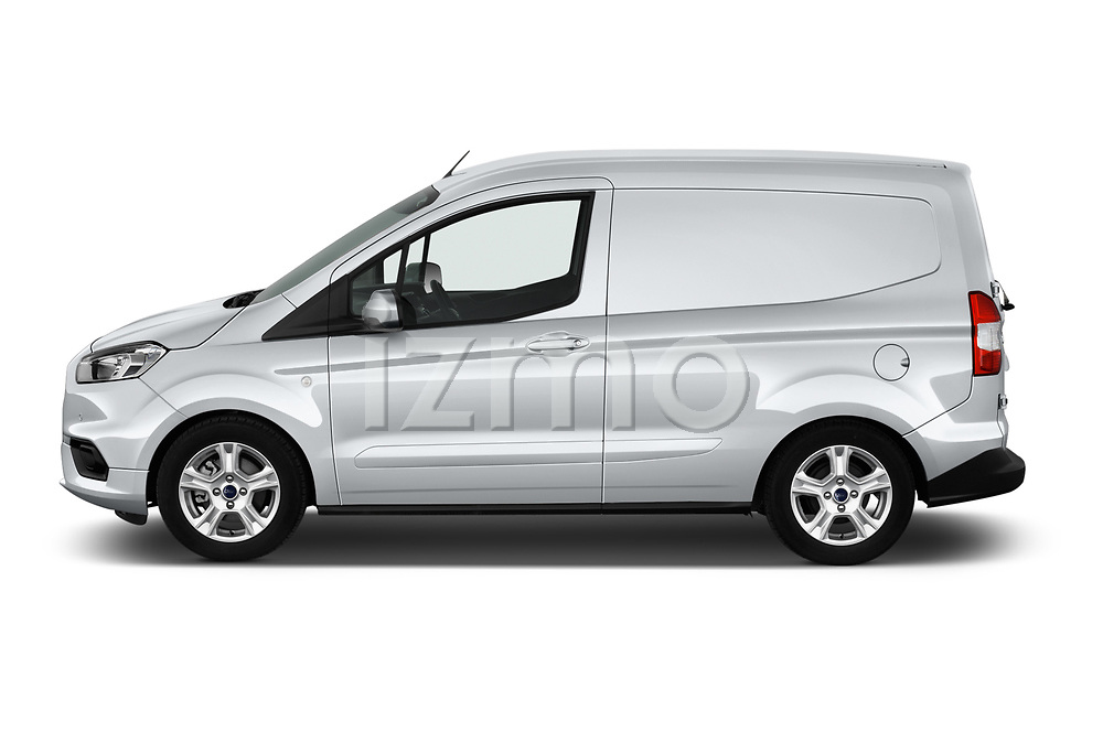 Car driver side profile view of a 2018 Ford transit courier Limited 4 Door Car Van