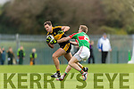 Eoin Brosnan Dr Crokes in Action against Noel McGrath Loughmore-Castleiney in the Munster Senior Club Semi-Final at Crokes Ground, Lewis Road on Sunday