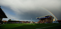 A rainbow appears over the ground<br /> <br /> Photographer Chris Vaughan/CameraSport<br /> <br /> Emirates FA Cup First Round - Lincoln City v Northampton Town - Saturday 10th November 2018 - Sincil Bank - Lincoln<br />  <br /> World Copyright © 2018 CameraSport. All rights reserved. 43 Linden Ave. Countesthorpe. Leicester. England. LE8 5PG - Tel: +44 (0) 116 277 4147 - admin@camerasport.com - www.camerasport.com