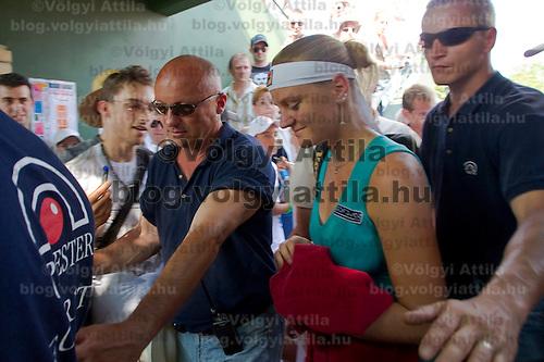 Agnes Szavay (HUN) during the Gaz de France Suez WTA tour Grand Prix international women tennis competition held at Roman Tennis Academy in Budapest, Hungary. Tuesday, 06. July 2010. ATTILA VOLGYI