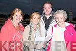 BETS: Placing and thinking of what to bet on in the 4th race at the Kingdom Greyhound Stadium, Tralee on Friday evening, L-r: Gillian, Angela and Darren Ryan and Ann Graham (Dingle)...