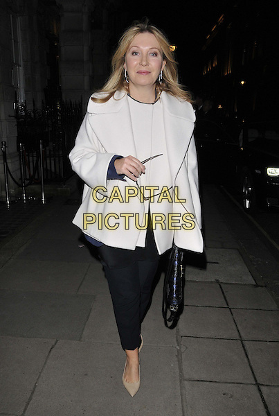 LONDON, ENGLAND - DECEMBER 10: Kirsty Young attends the The Paddington Trail auction, Christie's London, King Street Saleroom, King St., on Wednesday December 10, 2014 in London, England, UK. <br /> CAP/CAN<br /> &copy;CAN/Capital Pictures