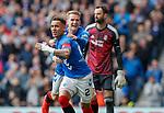 28.04.2019 Rangers v Aberdeen: James Tavernier celebrates with Steven Davis
