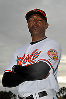 Feb 27, 2010; Tampa, FL, USA; Baltimore Orioles  coach John Shelby (38) during  photoday at Ed Smith Stadium. Mandatory Credit: Tomasso De Rosa