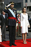 Coronation ceremony in Madrid. King Felipe VI of Spain and Queen Letizia of Spain at Congreso de los Diputados .Madrid, June 19 ,2014. (ALTERPHOTOS/EFE/Pool)