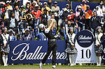 JEJU, SOUTH KOREA - APRIL 25:  Tano Goya of Argentina tees off on the 10th hole during the Round Three of the Ballantine's Championship at Pinx Golf Club on April 25, 2010 in Jeju, South Korea. Photo by Victor Fraile / The Power of Sport Images