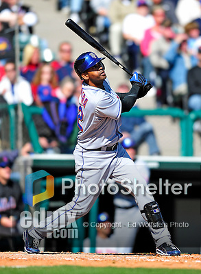 3 March 2010: New York Mets' infielder Jolbert Cabrera in action during a Grapefruit League game against the Atlanta Braves at Champion Stadium in the ESPN Wide World of Sports Complex in Orlando, Florida. The Braves defeated the Mets 9-5 in the Spring Training matchup. Mandatory Credit: Ed Wolfstein Photo
