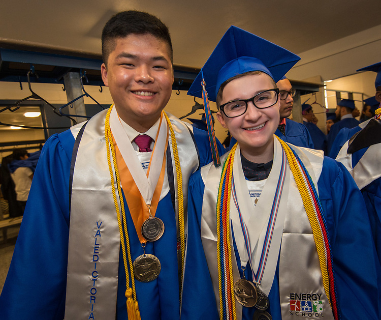 Energy Institute High School graduation at Butler Fieldhouse, May 27, 2017. The Class of 2017 is the first graduating class for the school.