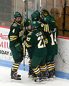Sammy Kolowrat (UVM - 4), Saana Valkama (UVM - 24), Éve-Audrey Picard (UVM - 26), Ali O'Leary (UVM - 14), Taylor Willard (UVM - 27) -  The Boston College Eagles defeated the University of Vermont Catamounts 4-3 in double overtime in their Hockey East semi-final on Saturday, March 4, 2017, at Walter Brown Arena in Boston, Massachusetts.