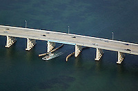 aerial photograph Rickenbacker Causeway Miami, Florida