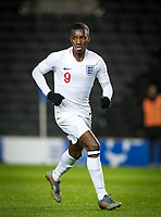 Eddie Nketiah (Leeds United (on loan from Arsenal) of England U21 during the UEFA Euro U21 International qualifier match between England U21 and Austria U21 at Stadium MK, Milton Keynes, England on 15 October 2019. Photo by Andy Rowland.