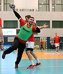 08.01.2019, Hohenschoenhausen, Berlin, GER, Handball WM, DHB,  TRAINING, im Bild <br /> Jannik Kohlbacher (GER #48)<br /> <br />      <br /> Foto &copy; nordphoto / Engler