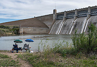 The John Martin Reservoir along the Arkansas River, Friday, May 20, 2016. The John Martin Reservoir holds water for agricultural use throughout the drought prone Arkansas Valley.<br /> <br /> Photo by Matt Nager