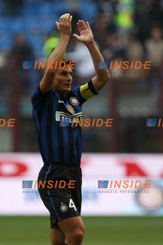 Javier Zanetti Inter.Milano 23/10/2011 Stadio S.Siro.Football Calcio Serie A 2011-12.Inter vs Chievo .Foto Insidefoto Paolo Nucci