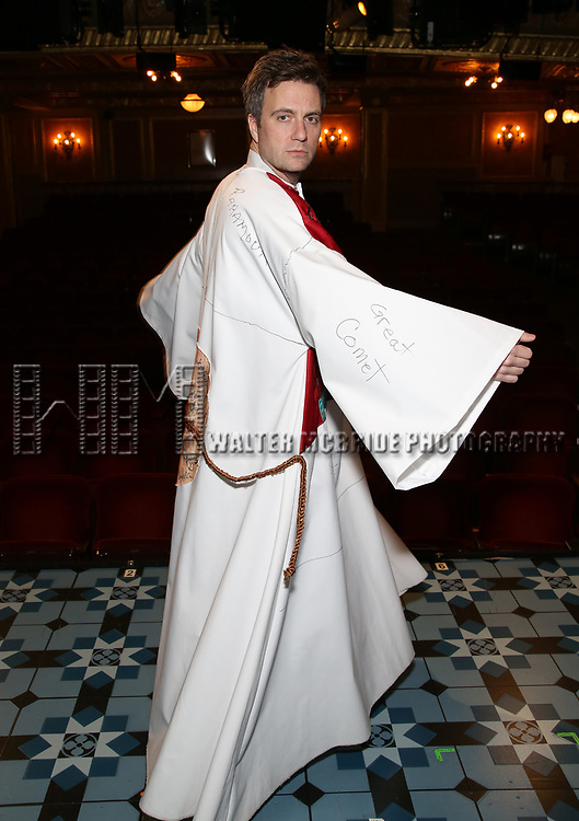 Manoel Felciano during the Actors' Equity Broadway Opening Night Gypsy Robe Ceremony honoring Manoel Felciano for 'Amelie' at the Walter Kerr Theatre on April 3, 2017 in New York City