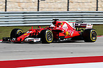 Ferrari driver Sebastian Vettel (5) of Germany in action during the Formula 1 United States Grand Prix race at the Circuit of the Americas race track in Austin,Texas.