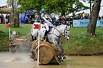 6th May 2017, Andrew Hoy riding The Blue Frontier during the Cross Country phase of the 2017 Mitsubishi Motors Badminton Horse Trials, Badminton House, Bristol, United Kingdom. Jonathan Clarke/JPC Images